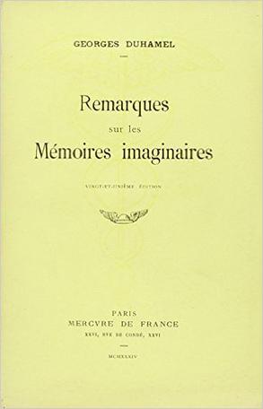 Remarques sur les mémoires imaginaires