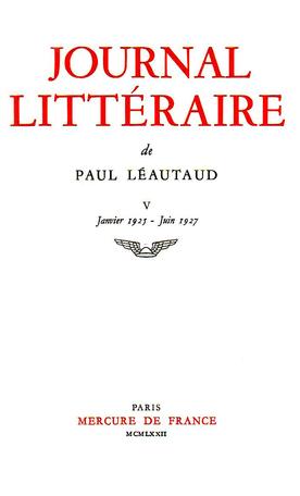 Journal littéraire Tome 5 - 1925-1927 2