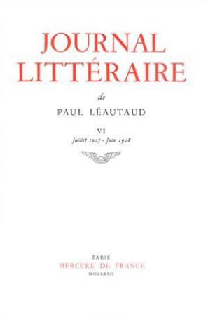 Journal littéraire Tome 6 - 1927-1928 2