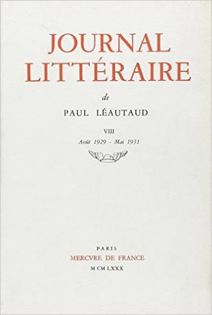 Journal littéraire Tome 8 - 1929-1931 2
