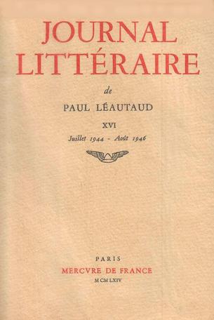 Journal littéraire Tome 16 - 1944-1946 2