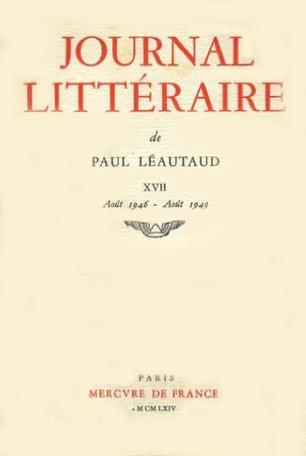 Journal littéraire Tome 17 - 1946-1949 2