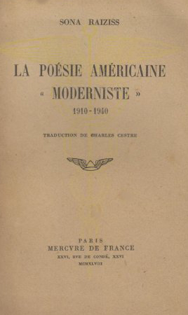 La poésie américaine «moderniste»