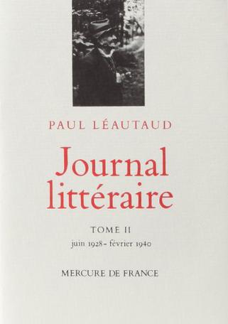 Journal littéraire Tome 2 - Juin 1928 - février 1940 2