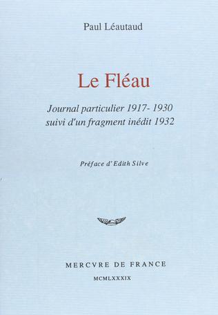 Le Fléau suivi de Fragment inédit de 1932